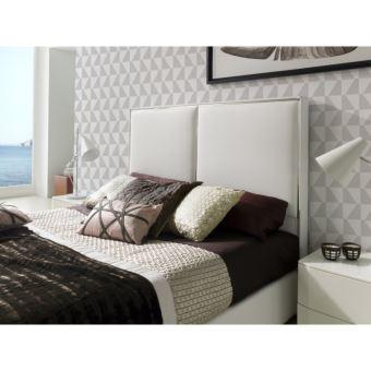 t te de lit pour lit 180 cm en simili cuir blanc kinley. Black Bedroom Furniture Sets. Home Design Ideas