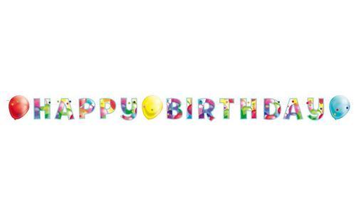 Amscan Bannière Happy Birthday Ballons 174 x 13 cm papier