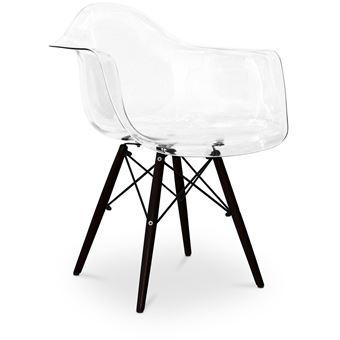 26198 sur myfaktory chaise dawly pitement fonc polycarbonate transparent achat prix fnac - Chaise Polycarbonate Transparente