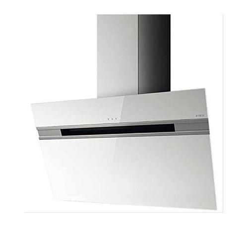Hotte décorative inclinée - 603 m3/h - L50cm - Blanc