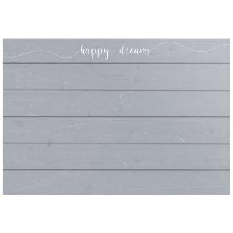 TETE DE LIT HAPPY DREAMS Tete de lit style classique gris mat - L 160 cm