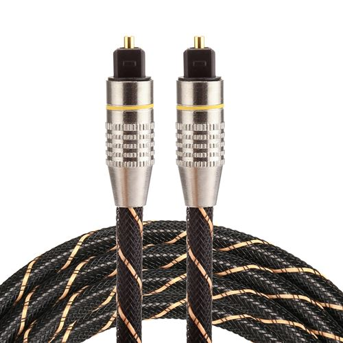 (#26) 1.5m OD6.0mm Gold Plated Metal Head Woven Net Line Toslink Male to Male Digital Optical Audio