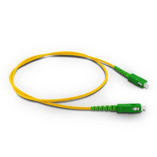 METRONIC Cordon fibre optique monomode 0,8 m - orange et vert - 470233