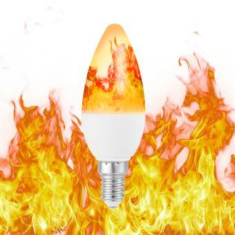 Ampoule Ld1700 Effet Décoration Blanc Lampe E14 De Flamme Pour Émulation Led Super Candélabre Chaud Scintillement Lumineux b67Yfyg