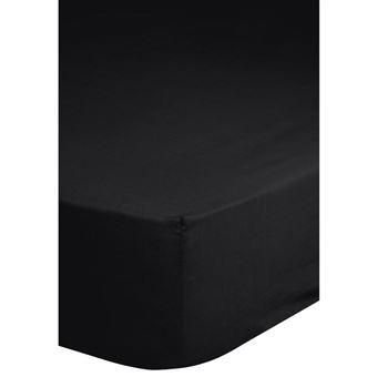 couvre lit 90x200 Emotion Drap housse sans repassage couvre lit 90 x 200 cm Noir  couvre lit 90x200