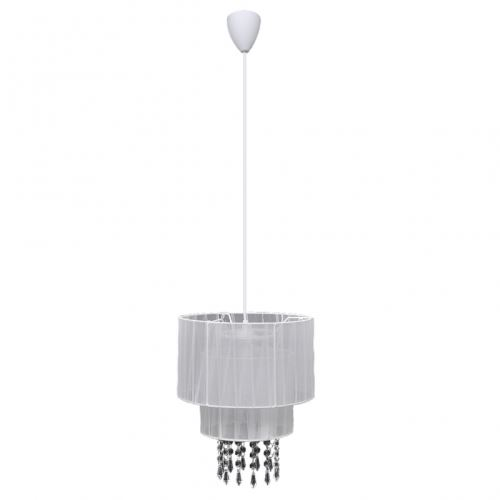 Lustre plafonnier contemporain suspension cristal blanc