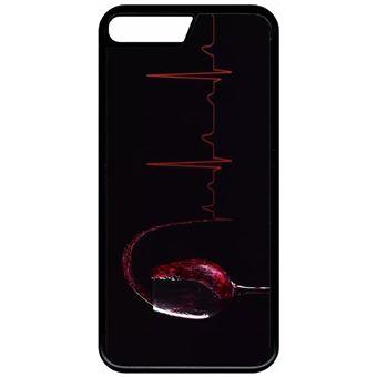 Coque Apple Iphone 8 Plus Verre De Vin Électrocardiogramme