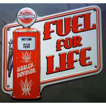 plaque Harley Davidson fuel for life pompe a essence usa, Autre poster, Top Prix | fnac