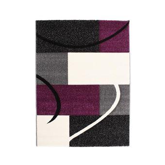 FINLANDEK Tapis de salon Loimaa 80x150 cm gris et violet - Achat ...