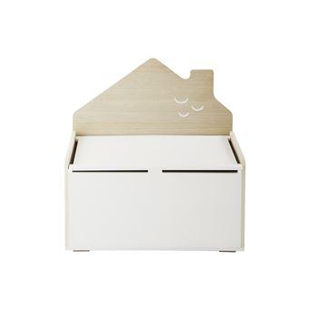 Vertbaudet Banc Coffre Home Blanc Bois Tu Coffre A Jouets Et Rangements Achat Prix Fnac