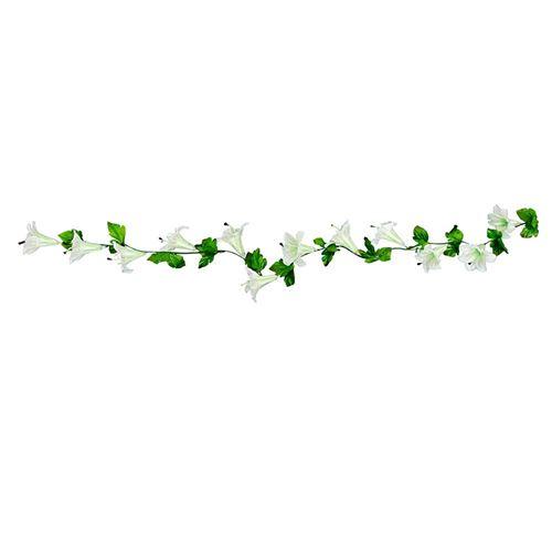 guirlande fleur tropicale blanc 220cm