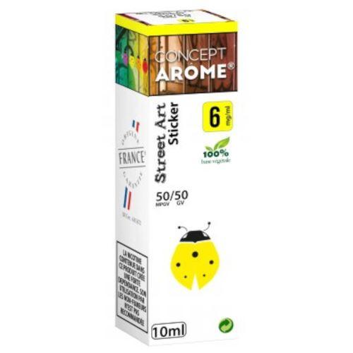 Conceptarôme - E-liquide Mixte Prenium – Sticker 6 mg.