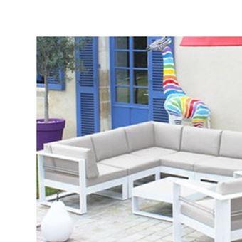 salon bas de jardin en aluminium brisbane beige chin. Black Bedroom Furniture Sets. Home Design Ideas
