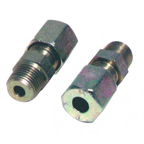 Raccord à bague M1/8 - tube 6mm (2pcs) - Acier - M1/8 - tube 6mm (2pcs)