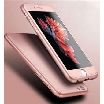 Coque pour Apple iPhone 6 PLUS 6S PLUS Coque Rose Verre Trempe Houe Etui 360 Full Hybride Protection Rigide Plastique Dur Anti Choc Ultra Slim Integrale Film Vitre Ecran Ultra Resistant Phonillico