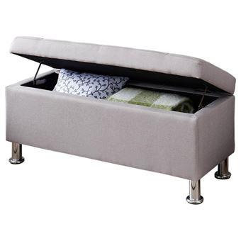 Super Banc de lit NIZZA coffre de rangement avec assise pouf capitonné NH-31