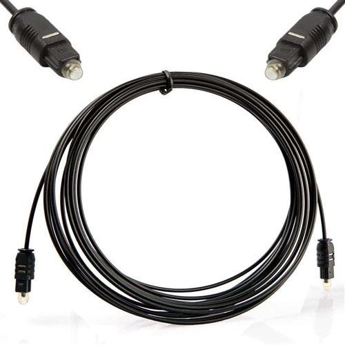 Cable optique Audio Numérique Cordon 5m Toslink HIFI Gaming Xbox One PS4 PS3 Home Cinema