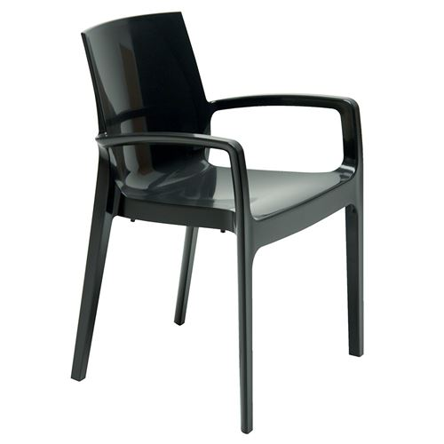 Fauteuil CREAM empilable / Anthracite