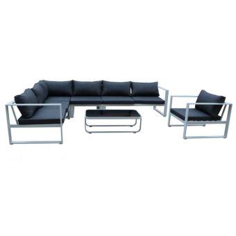 301 sur paris prix salon de jardin lima 7 places gris blanc mobilier de jardin achat prix fnac - Achat Salon De Jardin