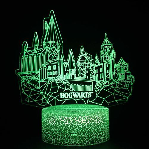 Lampe 3D Tactile Veilleuses Enfant 7 Couleurs avec Telecommande - Harry potter #1582
