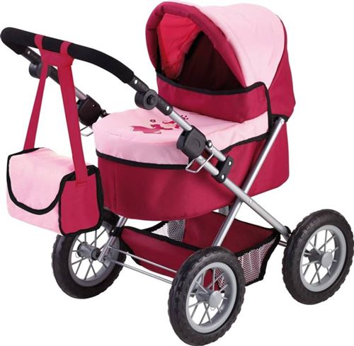 Bayer transport de poupée à la Trendy rouge / rose 67 cm