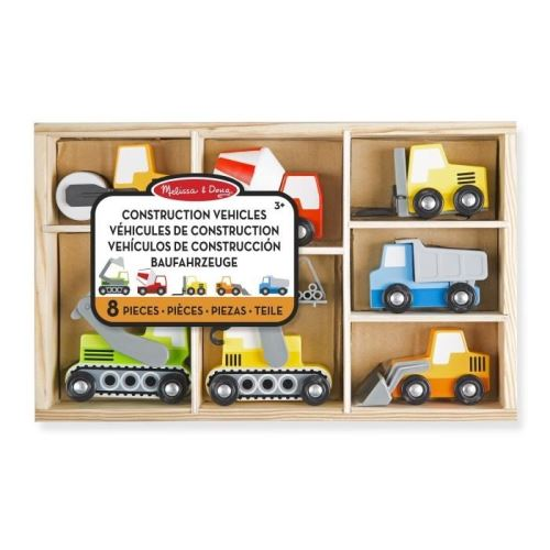 Melissa & doug véhicules de chantier de construction en bois melissa and doug