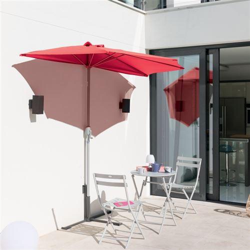 Demi-parasol Serena coloris framboise Hespéride