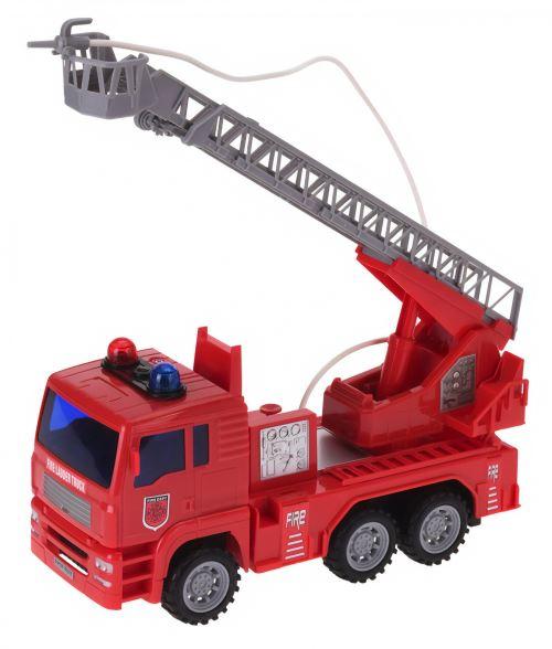 Tender Toys voiture de pompiers échelle trolley garçon 25 cm rouge