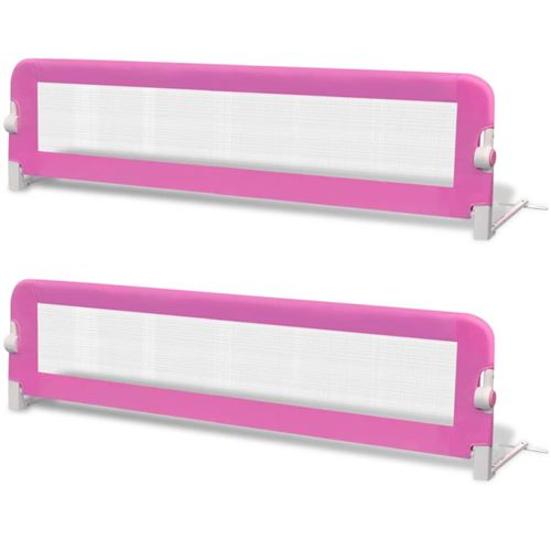 vidaXL Barrière de lit de sécurité pour tout-petits 2pcs Rose 150x42cm