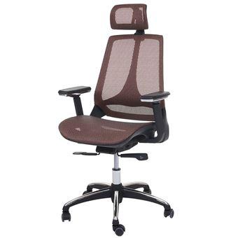 Chaise De Bureau HWC A59 Pivotante Fonction Glisse Tissu ISO9001 Couleur Mandarine