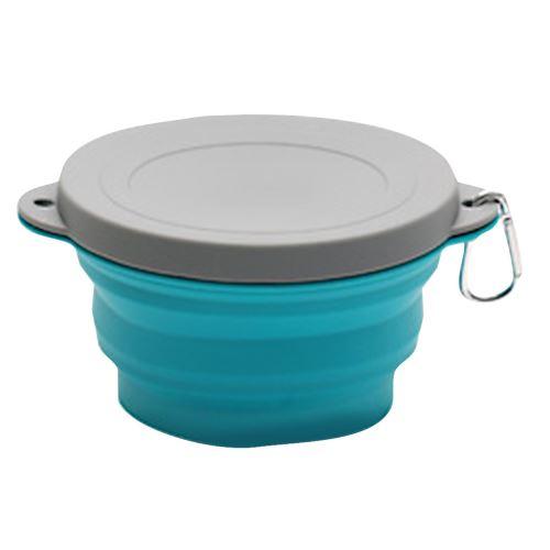 Pliant en silicone portable en plein air de pique-nique Bowl Bowl Creative Voyage Bowl_Kiliaadk1406