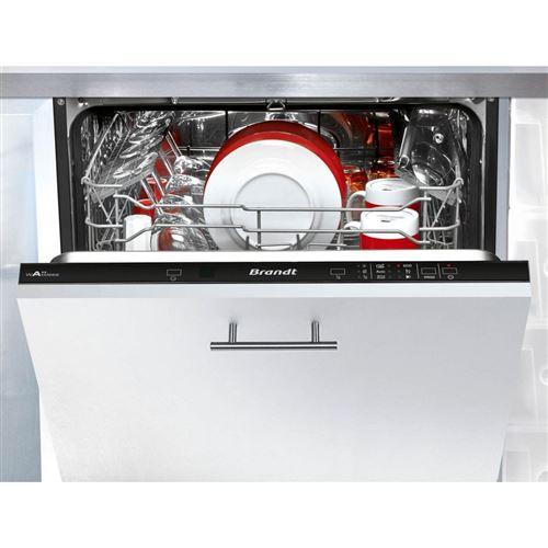 Brandt VH1744J - Lave-vaisselle - intégrable - largeur : 59.8 cm - profondeur : 55 cm - hauteur : 81.5 cm - noir