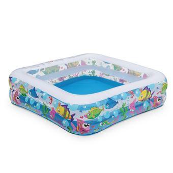 piscine gonflable pour enfants aquarium 145x145cm pataugeoire petite piscine jeu piscine