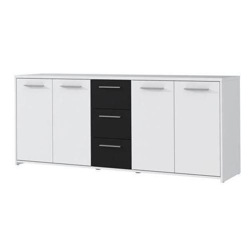 FINLANDEK Buffet bas PILVI contemporain blanc et noir mat - L 179 cm