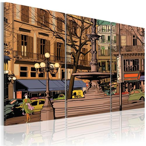 Artgeist - Tableau - Soirée calme à Paris 90x60