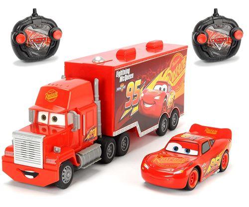 Dickie Toys - 203088002 - Radiocommandé - Ensemble de véhicules - Cars 3 - Turbo Mack Truck et Lightning McQueen