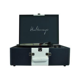 Halterrego H.TURN Deluxe Platenspeler Blauw en Wit