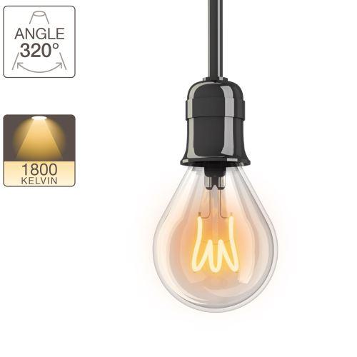 Ampoule LED P45 - culot E14 - vintage torsade