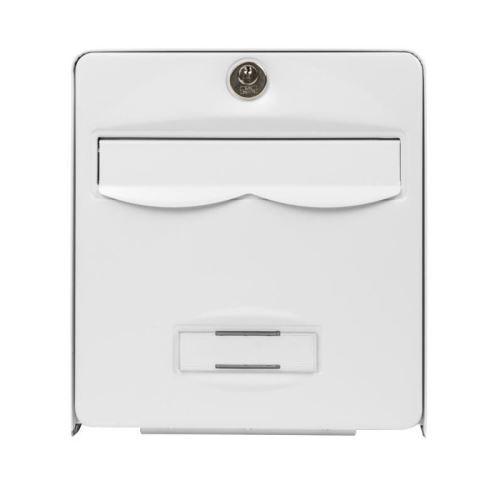 burg wachter mini boîte aux lettres balthazar en acier galvanisé - blanc