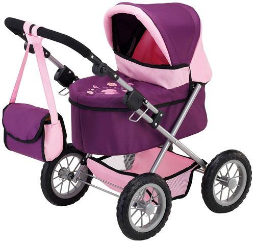 Bayer transport de poupée à la Trendy violet / rose 67 cm