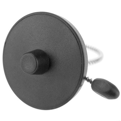 Noir RF EAS anti-vol tag supporte 8.2MHz 55mm câble antivol en acier 100 unités