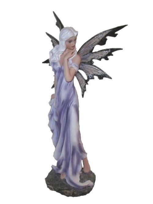 Figurine de fée mauve