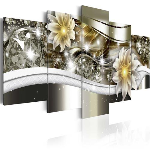 Tableau - Vague florale - Artgeist - 100x50