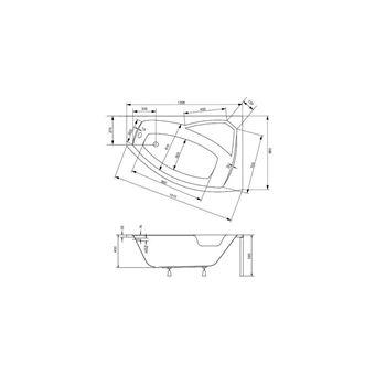 Baignoire D Angle Droite Rima 130 140 150 160 170 Cm Avec Tablier Dimensions 140cm Installations Salles De Bain Achat Prix Fnac