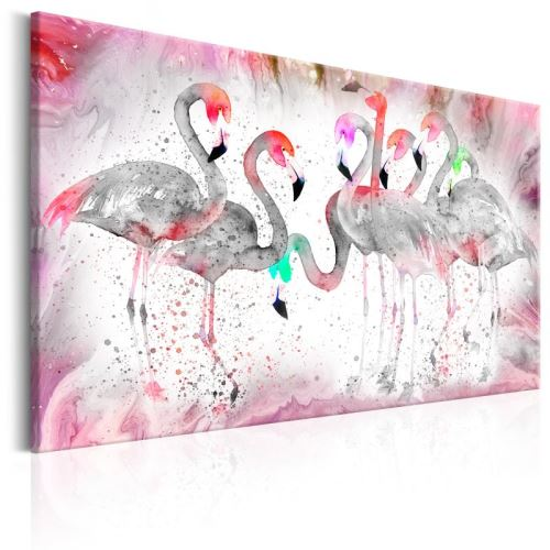 Tableau - Flamingoes Family .Taille : 120x80