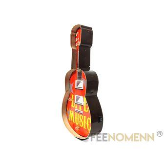 Plaque Métal Lumineuse Led Déco Murale Vintage Guitare