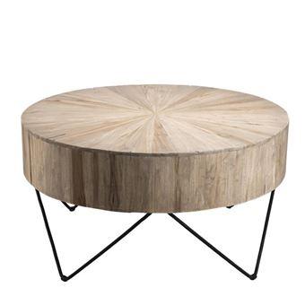 basse MétalTeck Table CORA basse Table ronde 80wmnN