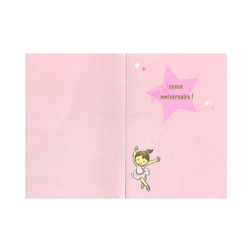 Carte De Voeux Enfant Anniversaire 5 Ans Fille Carte De Vœux Achat Prix Fnac