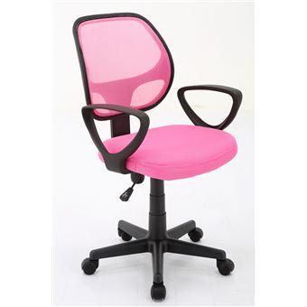 Chaise De Bureau Enfant A Roulettes Mobix Rose