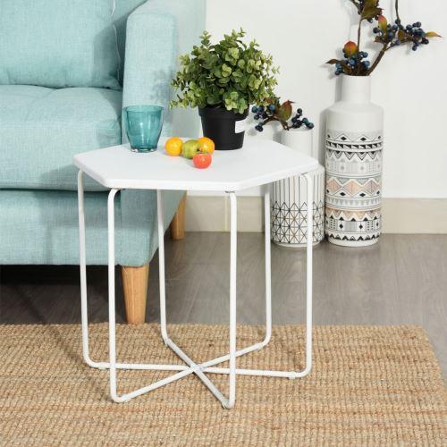 Blanche Forme Table En Basse Métal Polygone Achatamp; PrixFnac 3R5AjLqSc4